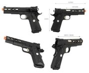 Army Armament R30 1911 Airsoft Gun GBB Gas Blowback Training Pistol with Ported Slide