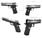Army Armament R30 1911 Airsoft Gun GBB Gas Blowback Training Pistol with Silver Slide Ported