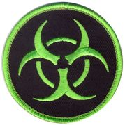 Neon Green Biohazard Hook and Loop Morale Patch