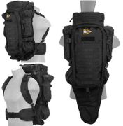 Black Lancer Tactical Escape and Evasion Survival Rifle Carry Pack Backpack CA-356