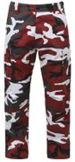 Rothco BDU Battle Duty Uniform Combat Pants in Violent Blood Red Fashion Camouflage 7915