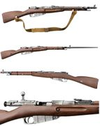 WWII Mosin Nagant M44 CO2 Powered Bolt Action Airsoft Sniper Rifle