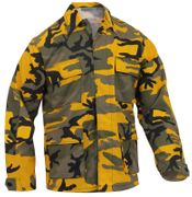 Rothco BDU Battle Duty Uniform Shirt in Bumble Bee Stinger Yellow Fashion Camouflage 8870