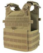 Condor Gunner Lightweight MOLLE Plate Carrier Tactical Vest in Coyote Brown 201039