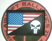 Condor PVC American Flag with Punisher Skull Moral Patch