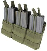 Condor Tactical Triple Stacker Open Top M4 M16 AR15 Bungee Retention Mag Pouch MA44