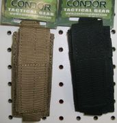 Condor Tactical Single Pistol Mag Pouch with Adjustable Hook and Loop Closure Flap MA32