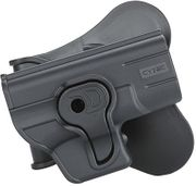 Cytac Push Button Retention Polymer Pistol Holster for Glock 43 with Paddle