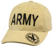 Deluxe United States Army Low Profile Baseball Hat Cap in Khaki
