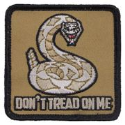 Don't Tread On Me USMC Gadsden Snake Hook and Loop Morale Patch Tan Version
