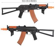 Double Bell AK74U Tactical CQB Airsoft AEG Gun Rifle with Real Wood DB-016D
