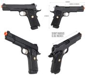 Double Bell Metal M1911 MEU CO2 Blowback Airsoft Gun Training Pistol with Carry Case DB-828