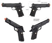 Double Bell M1911 MEU Gas Blowback Airsoft Gun Training Pistol with Carry Case DB-728