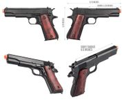 Double Bell Metal Real Wood M1911A2 Gas Blowback Airsoft Gun Training Pistol DB-720MB