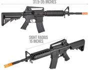 Double Bell M4A1 Airsoft Gun AEG with Metal Gearbox, Rail System, and Crane Stock DB-03T