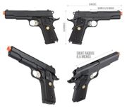 Double Bell MEU M1911 GBB Gas Blowback Airsoft Gun Training Pistol with Carry Case DB-738