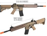 "M4 MK18 9.5"" Full Metal Airsoft Gun AEG in Tan DB-071S"