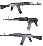 E&L Platinum Edition AKS74MN Airsoft Gun with Stamped Steel Receiver and Folding Stock EL-A106