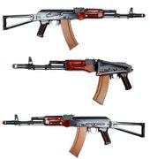 E&L Platinum Edition Russian MilSim AKS74N Airsoft Gun with Stamped Steel Receiver and Real Wood Furniture EL-A105
