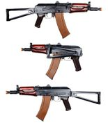 E&L Platinum Edition Russian MilSim AKS74UN Airsoft Gun AEG with Stamped Steel Receiver and Real Wood Furniture Mags EL-A104