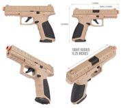 Elite Force Beretta APX CO2 Blowback Airsoft Training Pistol in Tan HK-2274307