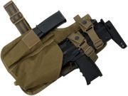Emerson Gear Tactical Drop Leg Holster for MP7 Airsoft GBB SMG in Khaki