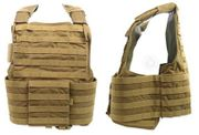 Flyye Industries 1000D Cordura Land Version MOLLE Plate Carrier Tactical Vest in Coyote Brown