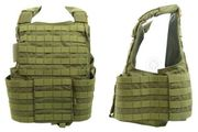 Flyye Industries 1000D Cordura Land Version MOLLE Plate Carrier Tactical Vest in OD Green