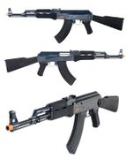 JG Golden Eagle AK-47 Fully Automatic Airsoft Gun in Black & Blue JG0506BMG
