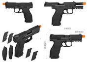 Heckler and Koch Licensed H&K VP9 Viper Gas Blowback Airsoft GBB Pistol in Black