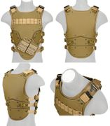 High Speed Airsoft Tactical Mag Strap Upper Body Armor Vest in Tan