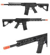 ICS M4 CXP Peleador Spanish Fighter Airsoft Gun AEG with M-LOK Rail System in Black ASG-50221
