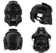 Interstellar Space Battle Trooper Airsoft FAST Helmet with Full Face Protection in Black