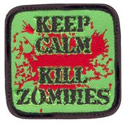 Keep Calm Kill Zombies Blood Splatter Hook and Loop Morale Patch