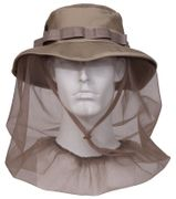 Khaki Boonie Hat with Built In Mosquito Netting