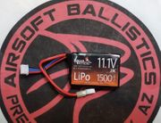 Lancer Tactical 11.1V 1500 20C Flat PEQ-15 Box Battery with Deans OR Tamiya