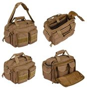 Lancer Tactical 600 Denier Nylon Covert Operator Tactical Concealed Carry Small Range Bag in Khaki CA-980KN