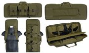 Lancer Tactical 600 Denier Polyester 36 Inch Double Gun Bag with Lockable Zipper in OD Green CA-982G