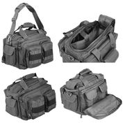 Lancer Tactical 600 Denier Polyester Covert Operator Tactical Concealed Carry Small Range Bag in Black CA-980B