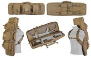 Lancer Tactical 600D Polyester 36 Inch MOLLE Double Rifle Gun Back with Pockets in Khaki CA-345K