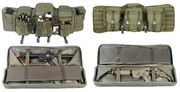 Lancer Tactical 600D Polyester 36 Inch MOLLE Double Rifle Gun Back with Pockets in OD Green CA-345G