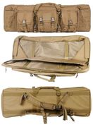 Lancer Tactical 600D Polyester 36 Inch MOLLE Double Rifle Gun Back with Pockets in Tan CA-345T