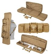 Lancer Tactical 600D Polyester 42 Inch MOLLE Double Rifle Gun Back with Pockets in Tan CA-343T2