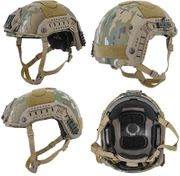 Lancer Tactical Airsoft MilSim Maritime FAST Tactical Advanced Helmet L/XL with Rails and Accessories in Modern Land Camo CA-806C