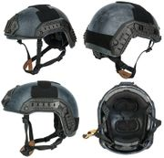 Lancer Tactical Airsoft MilSim Maritime FAST Tactical Advanced Helmet M/L with Rails and Accessories in TYP Typhoon Camo CA-805P
