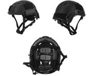 Lancer Tactical ACH Base Jump Airsoft MilSim Helmet with Rails in Black Med/L CA-334MB