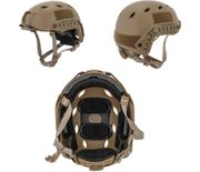 Lancer Tactical ACH Base Jump Airsoft MilSim Helmet with Rails in Dark Earth Med/L CA-334MT