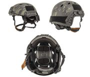 Lancer Tactical ACH Base Jump Airsoft MilSim Helmet with Rails in Dark Night Modern Land Camo L/XL CA-334U