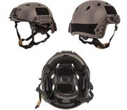 Lancer Tactical ACH Base Jump Airsoft MilSim Helmet with Rails in Gray L/XL CA-334S