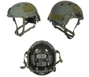 Lancer Tactical ACH Base Jump Airsoft MilSim Helmet with Rails in OD Green L/XL CA-334G